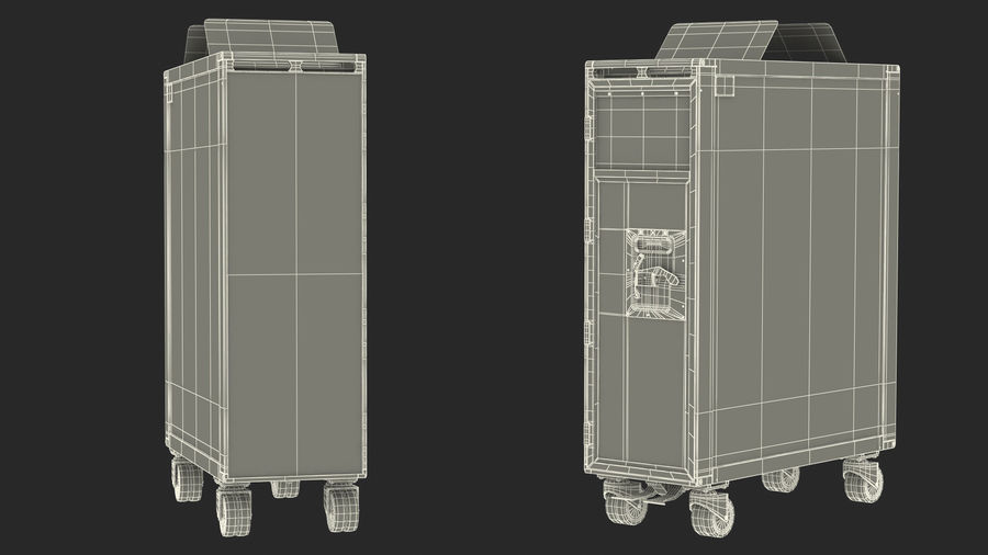 Full Size Waste Trolley royalty-free 3d model - Preview no. 22