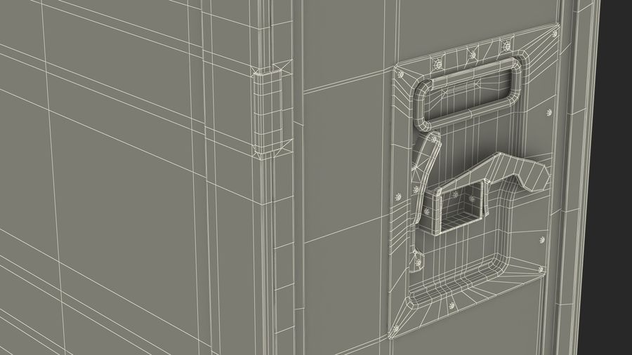 Full Size Waste Trolley royalty-free 3d model - Preview no. 24