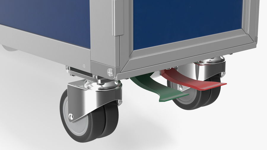 Full Size Waste Trolley royalty-free 3d model - Preview no. 12