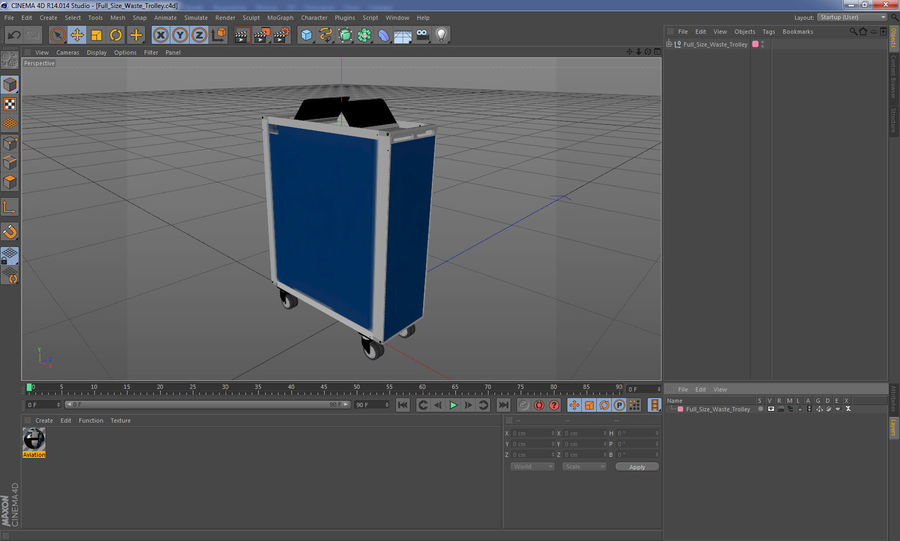 Full Size Waste Trolley royalty-free 3d model - Preview no. 20