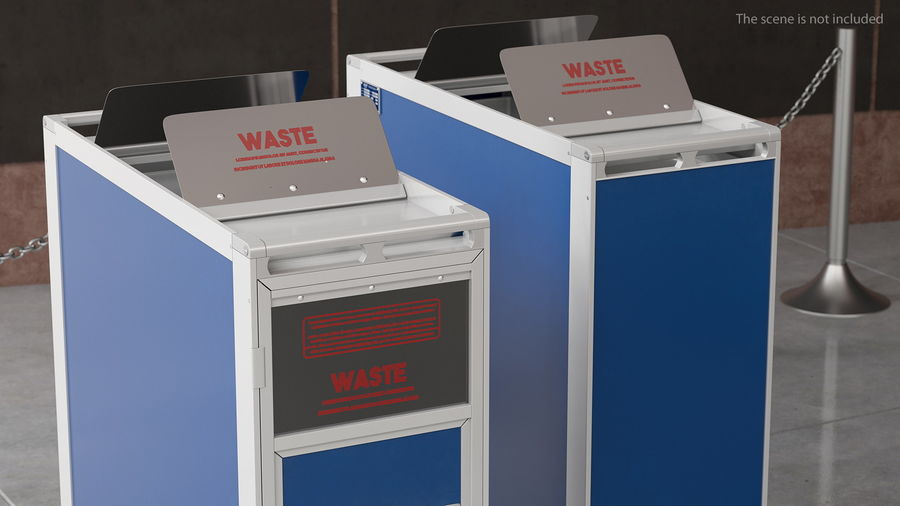 Full Size Waste Trolley royalty-free 3d model - Preview no. 4
