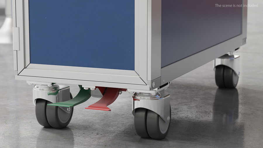 Full Size Waste Trolley royalty-free 3d model - Preview no. 6