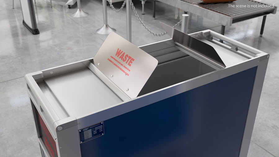 Full Size Waste Trolley royalty-free 3d model - Preview no. 5