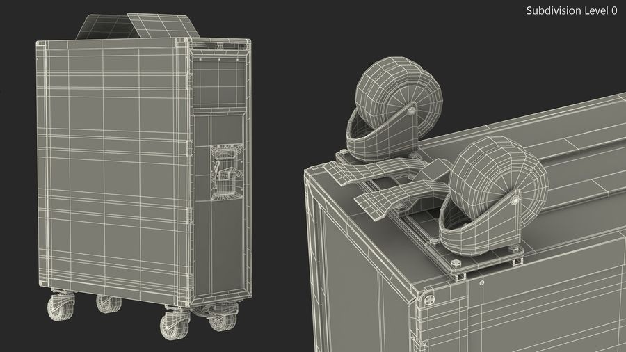 Full Size Waste Trolley royalty-free 3d model - Preview no. 15