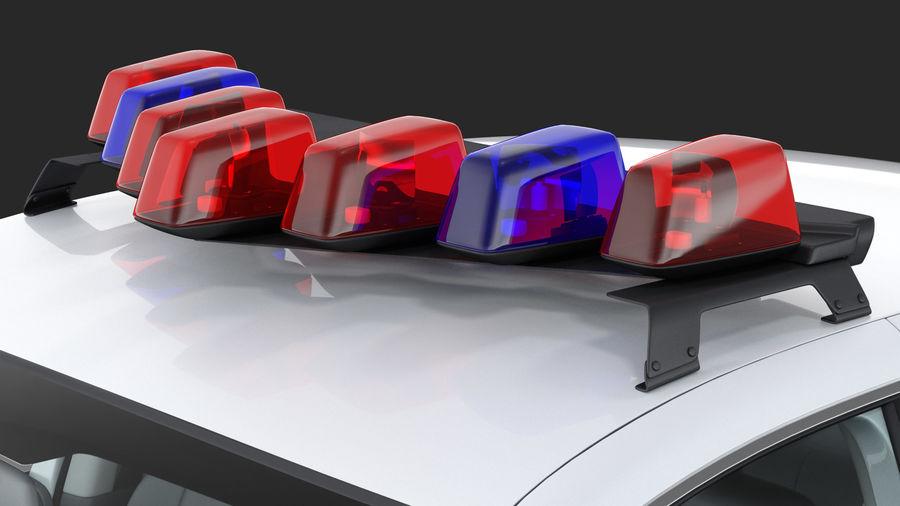 Ogólny samochód policyjny NYPD royalty-free 3d model - Preview no. 20
