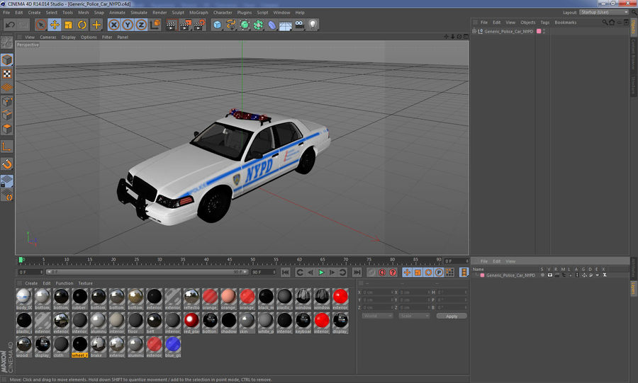 Generisk polisbil NYPD royalty-free 3d model - Preview no. 33