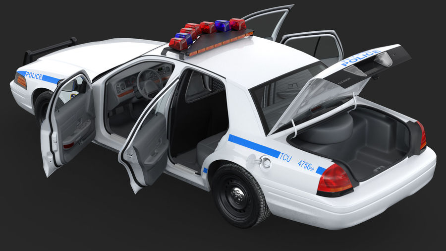 Generisk polisbil NYPD royalty-free 3d model - Preview no. 27