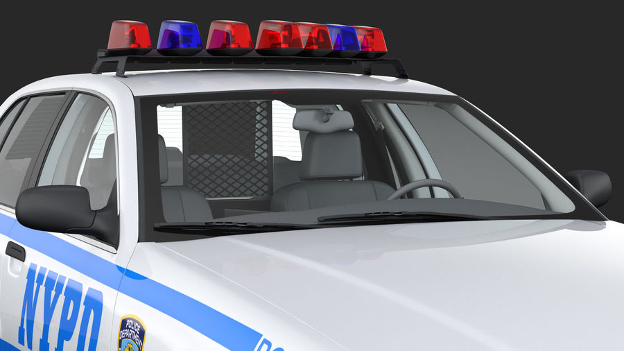 Ogólny samochód policyjny NYPD royalty-free 3d model - Preview no. 15