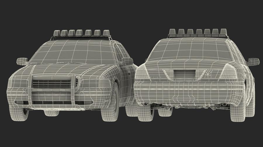 Ogólny samochód policyjny NYPD royalty-free 3d model - Preview no. 35