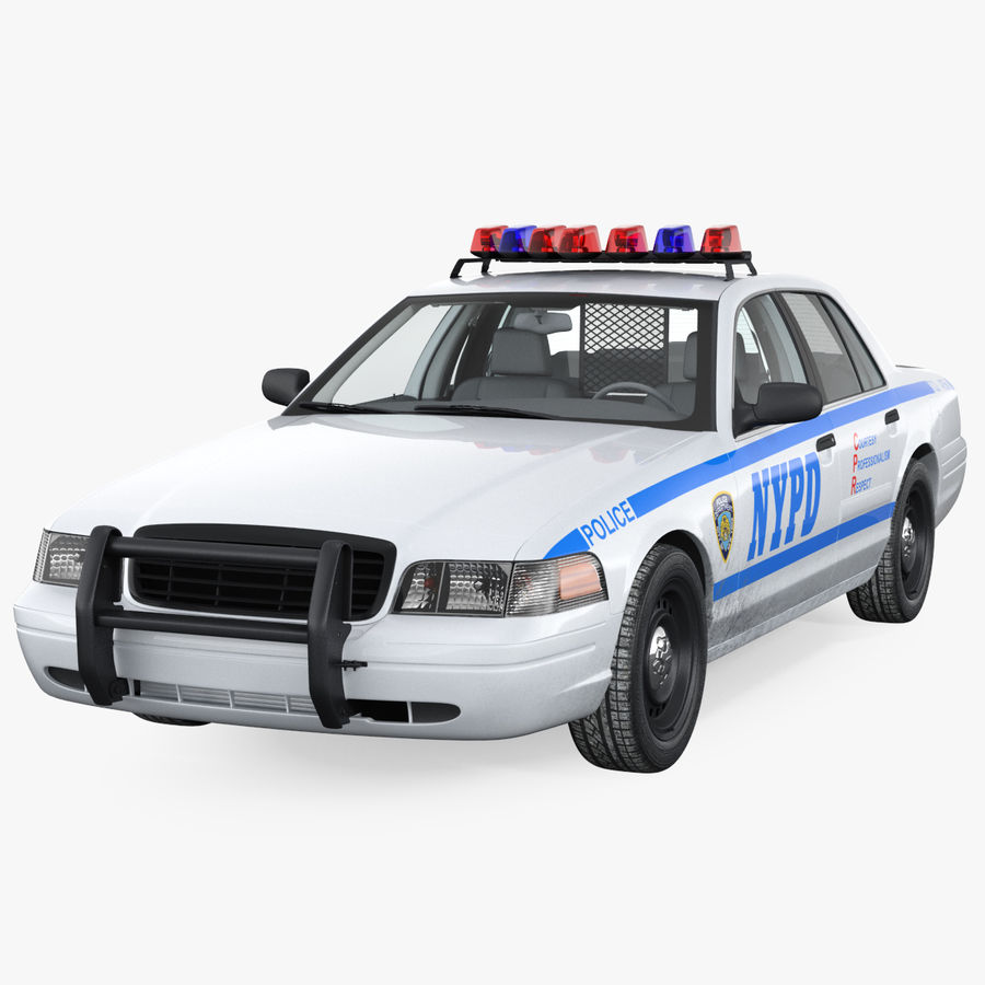 Generisk polisbil NYPD royalty-free 3d model - Preview no. 1