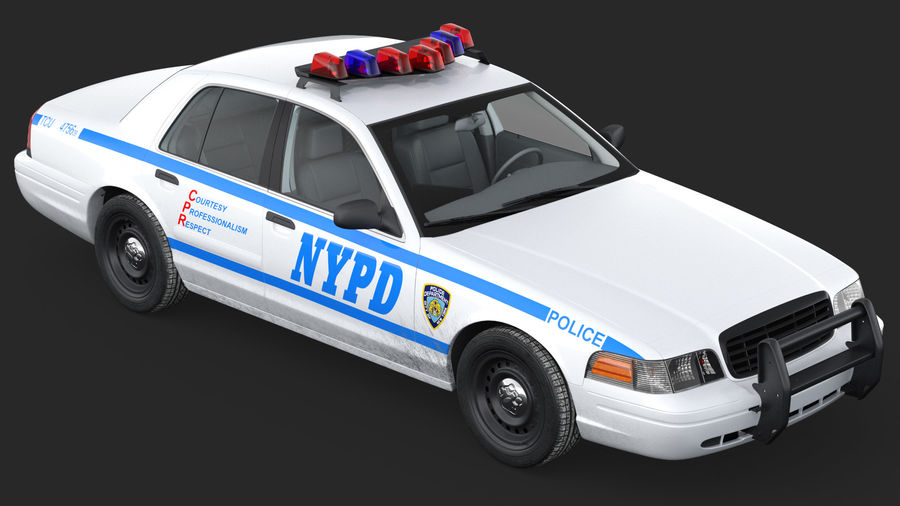 Generisk polisbil NYPD royalty-free 3d model - Preview no. 11