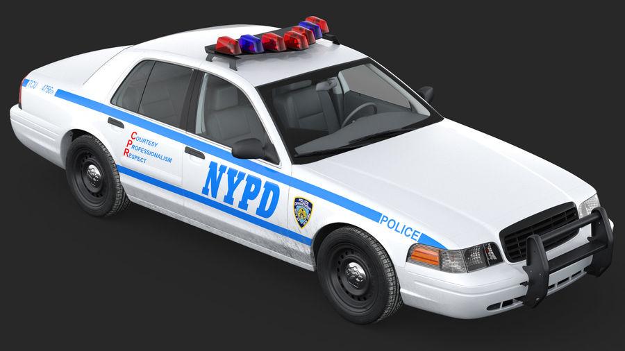 Ogólny samochód policyjny NYPD royalty-free 3d model - Preview no. 11