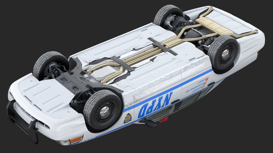 Generisk polisbil NYPD royalty-free 3d model - Preview no. 24