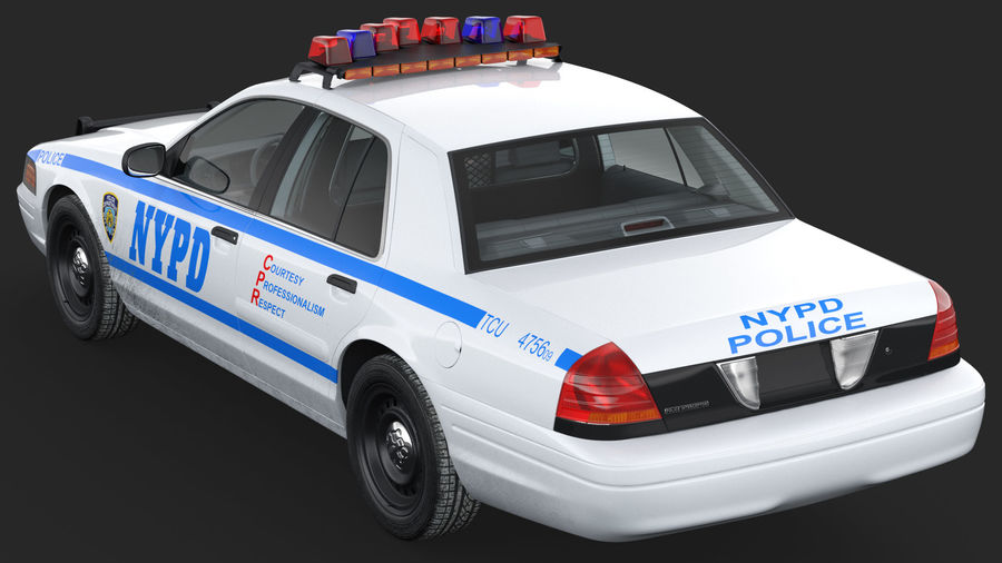 Generisk polisbil NYPD royalty-free 3d model - Preview no. 10