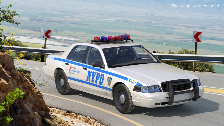 Generisk polisbil NYPD royalty-free 3d model - Preview no. 3