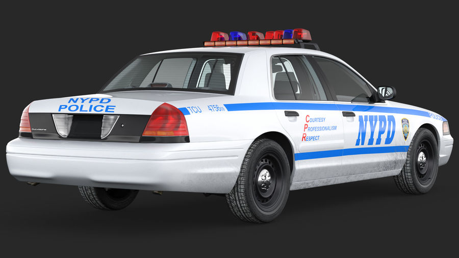Generisk polisbil NYPD royalty-free 3d model - Preview no. 9