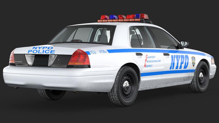 Ogólny samochód policyjny NYPD royalty-free 3d model - Preview no. 9