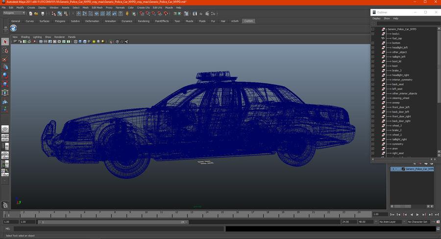 Ogólny samochód policyjny NYPD royalty-free 3d model - Preview no. 32