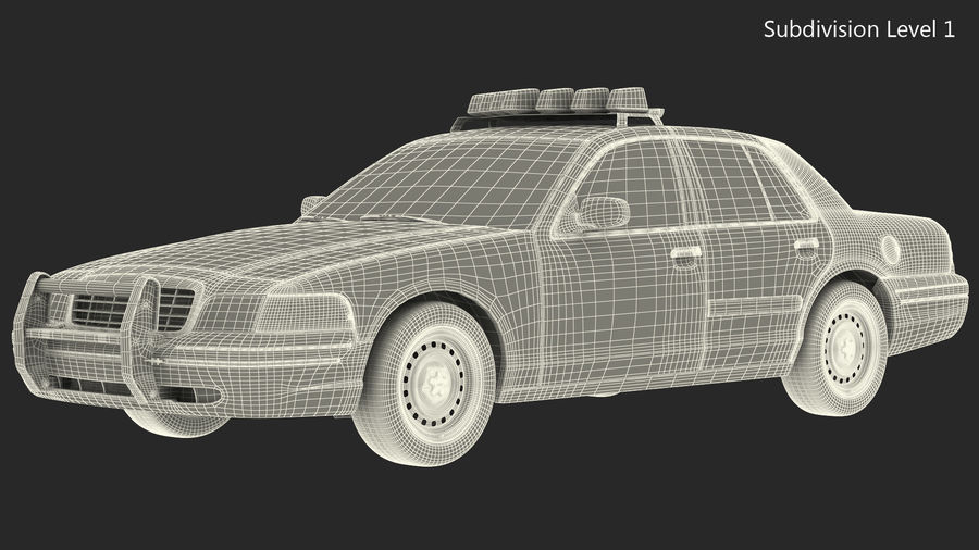 Generisk polisbil NYPD royalty-free 3d model - Preview no. 29