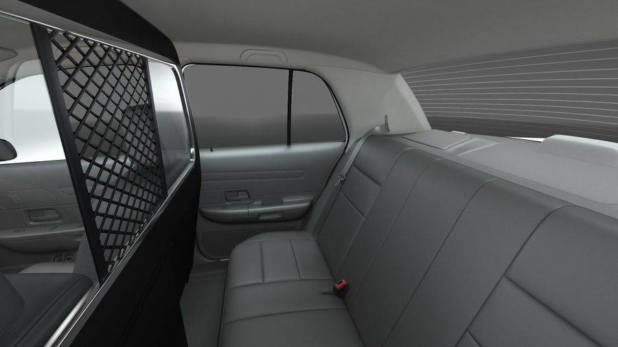 Ogólny samochód policyjny NYPD royalty-free 3d model - Preview no. 19