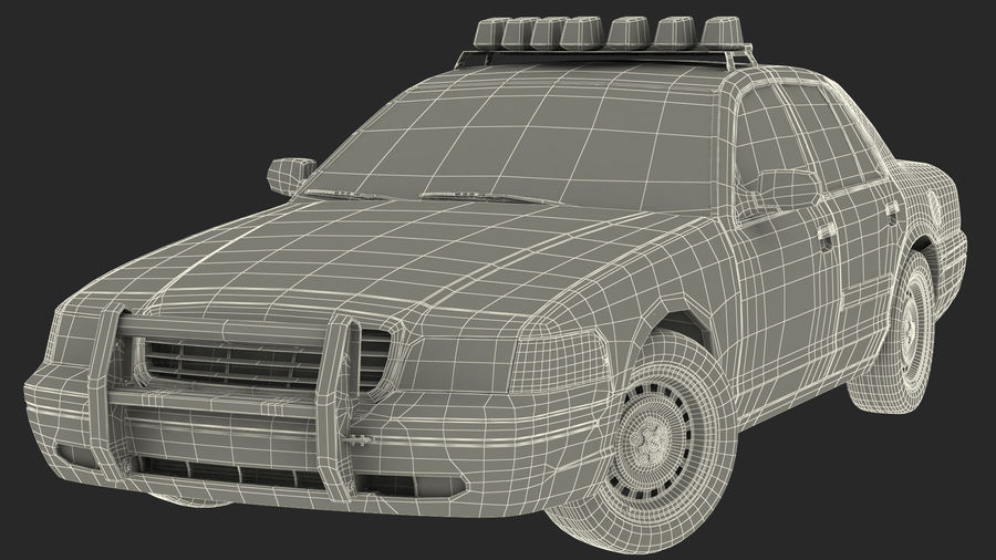 Generisk polisbil NYPD royalty-free 3d model - Preview no. 47
