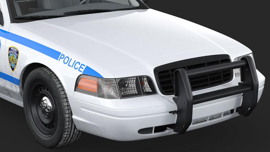Ogólny samochód policyjny NYPD royalty-free 3d model - Preview no. 13