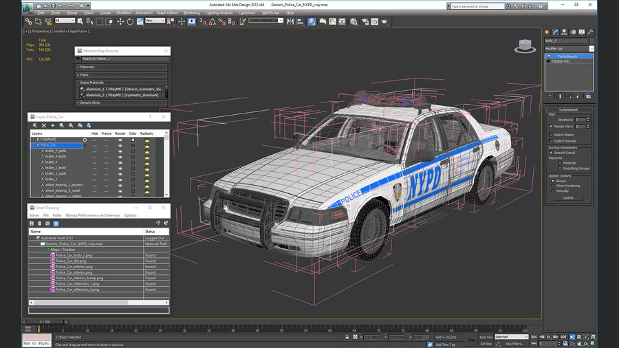Generisk polisbil NYPD royalty-free 3d model - Preview no. 34