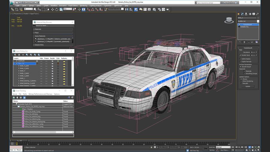 Ogólny samochód policyjny NYPD royalty-free 3d model - Preview no. 34