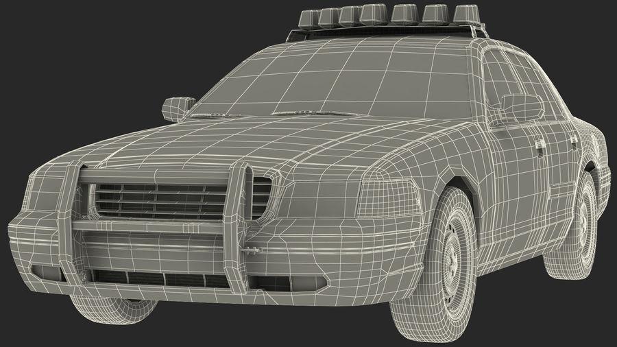 Ogólny samochód policyjny NYPD royalty-free 3d model - Preview no. 37