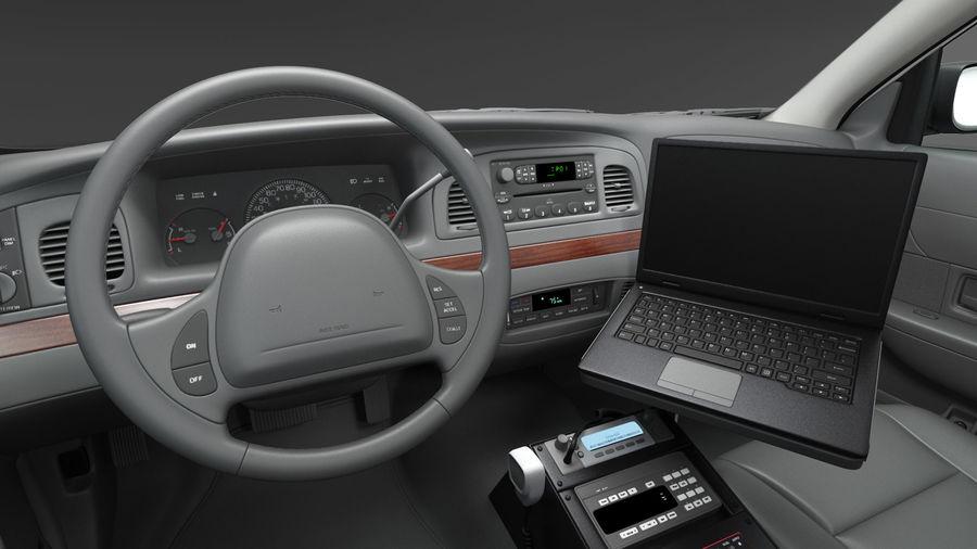 Ogólny samochód policyjny NYPD royalty-free 3d model - Preview no. 17