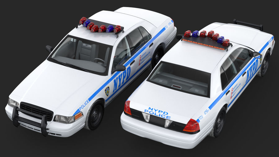 Generisk polisbil NYPD royalty-free 3d model - Preview no. 8
