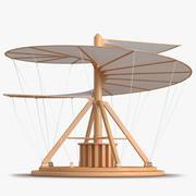 Leonardo Da Vinci Aerial Screw Animated for Maya 3d model