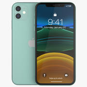 iPhone 11 Groen 3d model