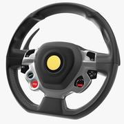 Sport Car Steering Wheel 3d model