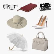 Womens Fashion Accessories Collection 3 3d model