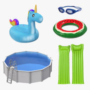 Swimming Pool and Accessories Collection 2 3d model