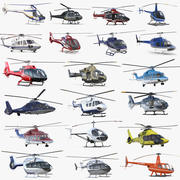 Private Helicopters Big Collection 3d model
