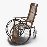 Винтажное инвалидное кресло, приспособленное для Maya 3d model