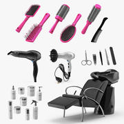 Collection d'équipement de salon de beauté 2 3d model