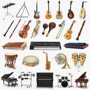 Collection d'instruments de musique 7 3d model