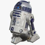 R2 D2 Animated для Cinema 4D 3d model