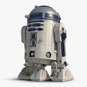 Star Wars Character R2 D2 Animated for Cinema 4D 3d model