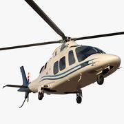 Agusta AW109S Büyük Mavi 3d model