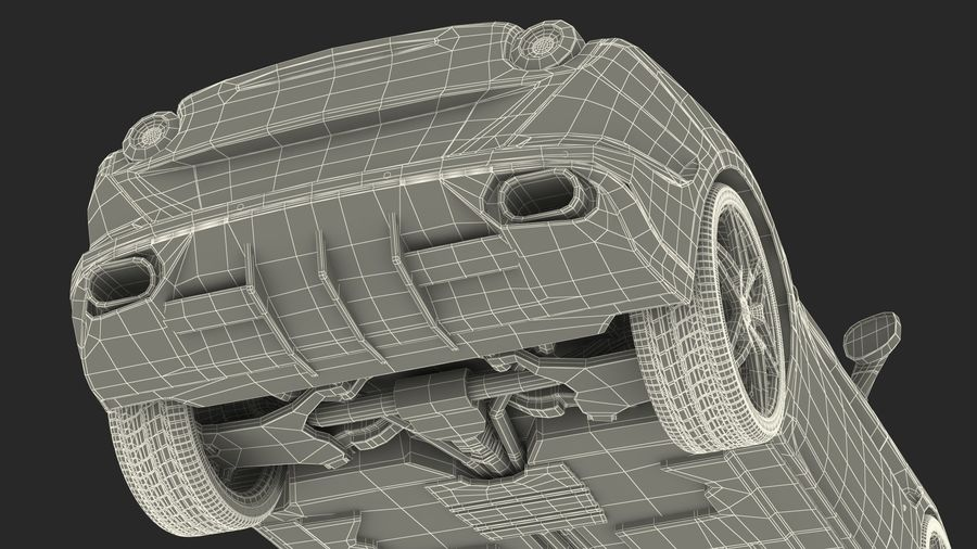 Generic Sport Car royalty-free 3d model - Preview no. 29