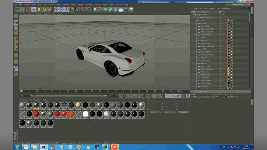 Generic Sport Car royalty-free 3d model - Preview no. 24