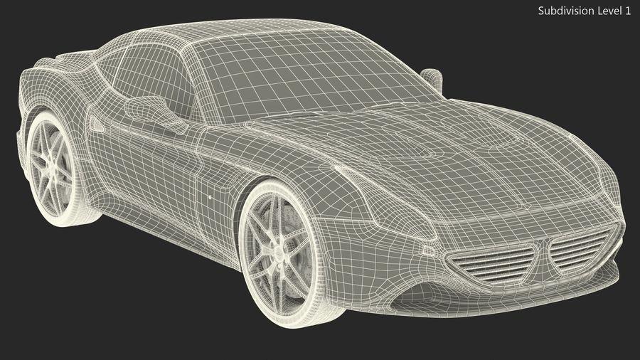 Generic Sport Car royalty-free 3d model - Preview no. 20