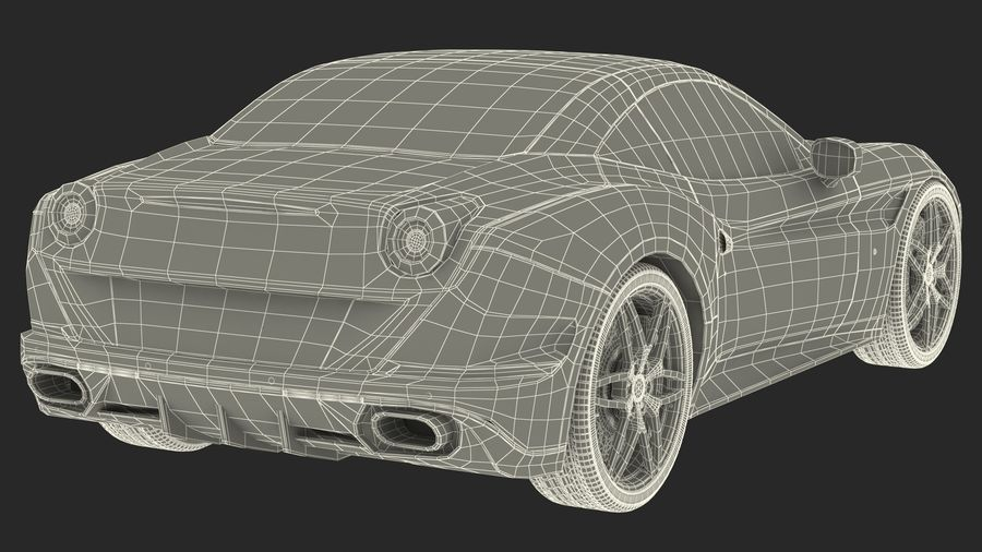 Generic Sport Car royalty-free 3d model - Preview no. 27
