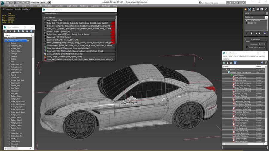 Generic Sport Car royalty-free 3d model - Preview no. 25