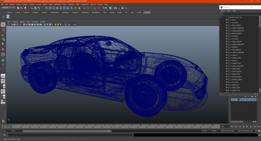 Generic Sport Car royalty-free 3d model - Preview no. 23