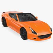 通用运动跑车 3d model